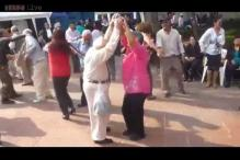 Watch: Grandpa's got the moves! This grandfather took over the dance floor and shocked everyone with his dancing skills