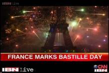 Watch: Bastille Day fireworks lit up Eiffel Tower