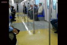 Photos: Did it rain right inside the Mumbai Metro? Shocked commuters tweet photos and videos of rainwater inside a train