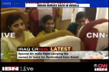 Watch: Indian nurses on board the flight on their way back from Iraq