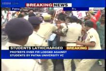 Patna police lathicharged on students protesting against FIR of VC