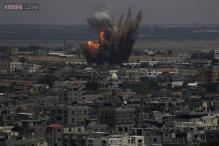 Hamas rockets land deep in Israel as it bombards Gaza Strip