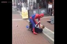 Watch: Real life Spiderman fights a man who stole his money on a street in Dublin