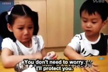 'I'll comfort you': Watch this adorable little boy appoint himself the protector of a homesick girl on 1st day of school