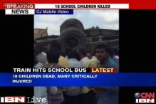 Telangana: 17 students killed as bus hits train at an unmanned crossing