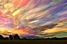Photo: Is that an impressionist painting? Nope, it's a brilliant time lapse photo of hundreds of sunsets!