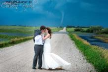 Photos: Wow! A tornado hit Canada, photobombed these wedding photographs, and turned them into pictures of a lifetime