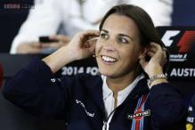 Claire Williams celebrates after memorable British Grand Prix