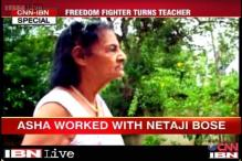 Asha Sahay, who once fought for freedom in Bose's Azad Hind Fauj, now fights illiteracy in Bihar