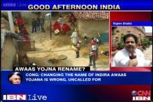 Centre plans to rename Indira Awaas Yojna, Congress upset
