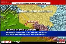 Pakistan Rangers DG says captured BSF soldier will be returned to India soon
