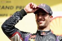 Beaming Ricciardo looms large in Mercedes' mirrors