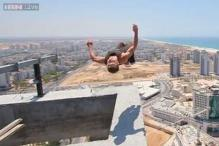 Watch: This boy tried a terrifying back flip on a 40-floor high building, escaped death by a whisker!