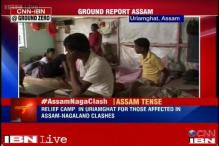 Relief camp in Uriamghat for those affected in Assam-Nagaland clashes