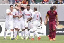Nemanja Vidic, Yuto Nagatomo score as Inter Milan beat AS Roma 2-0
