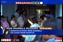 Imphal: Irom Sharmila set free, asks for mass support against AFSPA