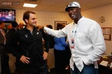Michael Jordan joins Federer fan club at US Open