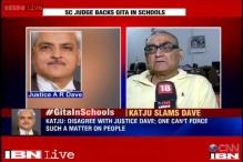 Dave's comment on the introduction of Gita in schools against the social fabric of India: Katju