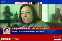 Live Blog: Najma Heptullah on Hindu-Hindi comment row