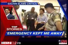 News 360: Medical emergency kept Sachin Tendulkar away from Parliament
