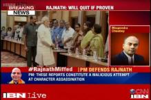 PM Modi comes to Rajnath Singh's defence, says reports against him and his son are 'plain lies'
