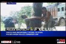 Caught on camera: UP Police assaults youth for trying to steal pulses
