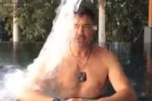 Watch: Robert Downey Jr. takes the Ice Bucket Challenge; challenges his Avengers co-star Chris Hemsworth to follow suit