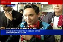 CWG 2014: Indian shooters get a rousing welcome on their return