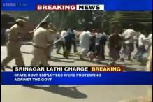 J&K: State government employees protest outside CM's house, lathicharged