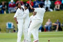 One-off Test: India women lose 6 wickets after dismissing England for 92