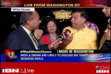Indian-Americans wait outside White House to catch a glimpse of PM Modi