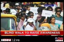Hundreds of Bangaloreans take part in the Blind Walk
