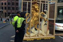 Rumoured time capsule found in an unusual place: head of lion statue that was once the seat of Massachusetts government