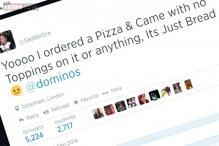 'I ordered pizza and it came with no toppings. Oh wait, I opened the box upside down': Hilarious Twitter exchange between a man and Dominos is a customer service nightmare
