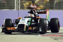 Force India reclaim fifth place with double points finish
