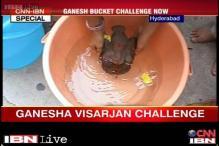 Hyderabad: After ice and rice, Ganesha visarjan bucket challenge gains fame