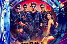 Shah Rukh Khan, Deepika Padukone, Abhishek Bachchan perform at the music launch of 'Happy New Year'