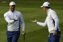 Birdie bonanza as Europe and US light up Ryder Cup