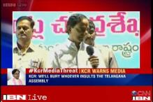 Will bury the media 10 feet under the earth if it insults Telangana: CM KCR warns news channels