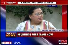 Why no CBI probe against 93 other blacklisted NGOs: Khurshid's wife to Centre