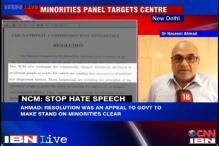 Minorities' Commission talks tough, says Centre must ensure their safety