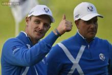 Ryder Cup: Europe roar back to lead on gripping opening day