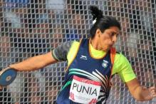 Seema Punia bags India's first athletics gold of Asian Games 2014