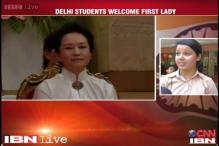 China's first lady Peng Liyuan visits Tagore International school, students exhibit their skills
