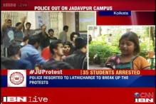 Policemen came without female constables and pushed us: Jadavpur University student protestor