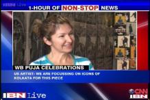 Kolkata: Artists from US collaborate with Indian craftsmen to install street art at puja pandal