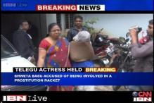 Telugu actress Shweta Basu arrested as police bust prostitution racket