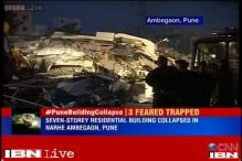 Pune: 7-storey building collapses, 1 person feared trapped