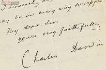 Charles Darwin's letter on sex life of barnacles, vintage Apple 1 from 1976 up for auction