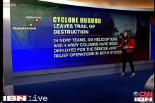 How the cyclone Hudhud advanced after landfall